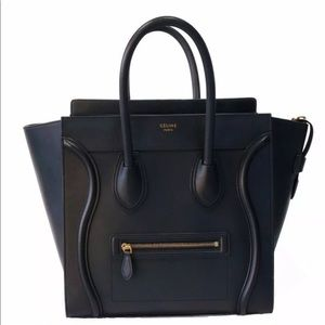 Celine Micro Luggage in smooth calfskin leather